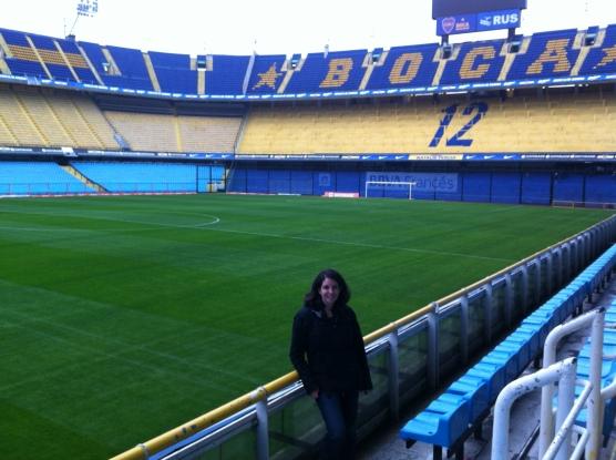 Katherine Quevedo at Boca Juniors Stadium