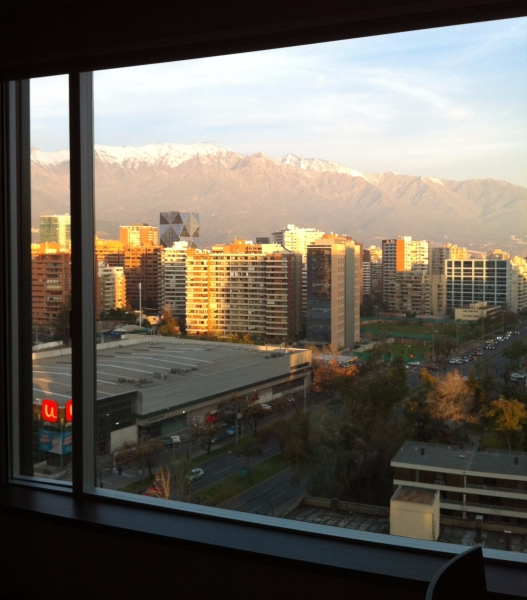 View from my Santiago hotel room