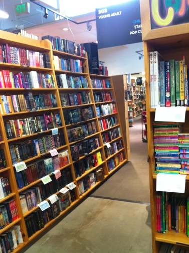 Aisle in Powell's bookstore