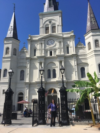 Katherine Quevedo at St. Louis Cathedral