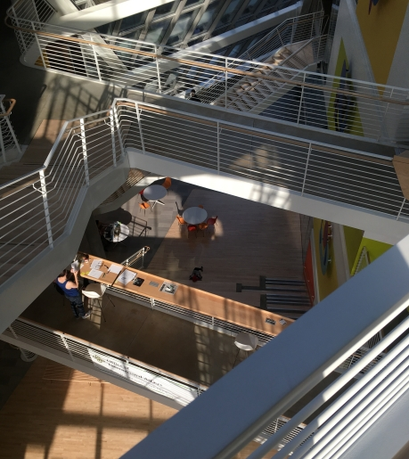 PSU Karl Miller Center staircases