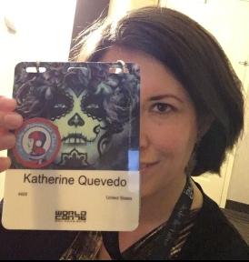 Katherine Quevedo at Worldcon 76