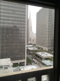 View from San Francisco hotel room