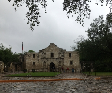 The Alamo iconic church