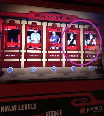 Ninjago Ride high scores