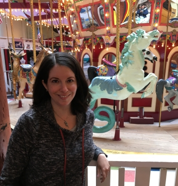 Katherine Quevedo with carousel Seahorse